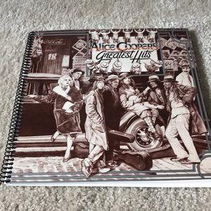 Alice Cooper's greatest hits album notebook